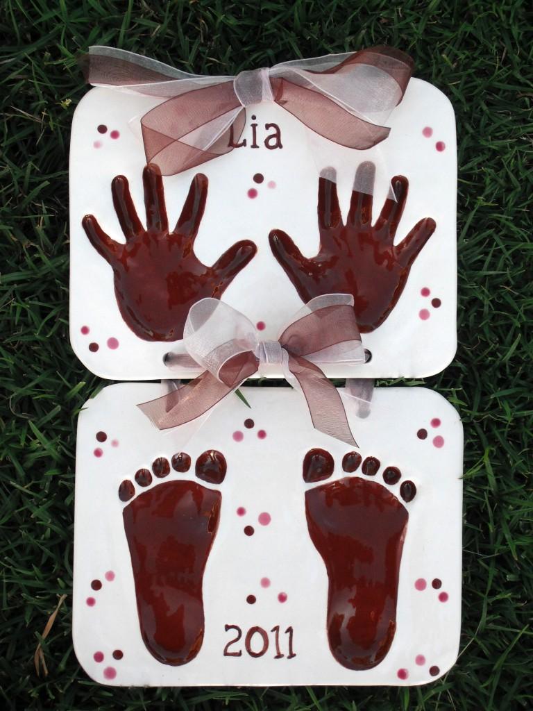 Children's Hand Print and Foot Print Keepsake Clay ...