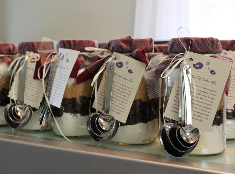 Homemade Wedding Shower Gifts: Handmade Bridal Shower Mason Jar Cookie Mix Favors