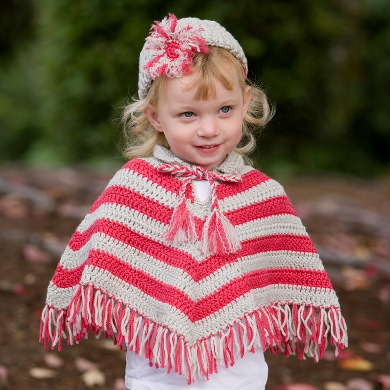 Childs Poncho Crochet Pattern By Bernat Design Studio Crochet