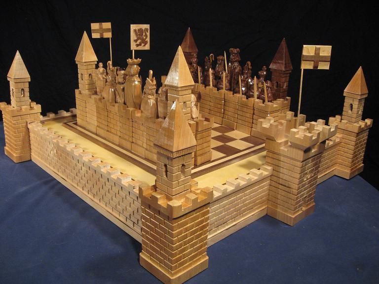 Handmade Chess Set Handcrafted From Wood Handmade